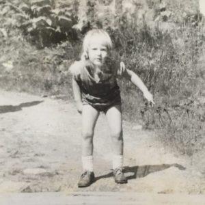 Katharina Pachta als Kind.